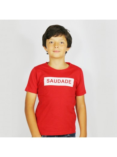 T-Shirt Kid Saudade Rouge